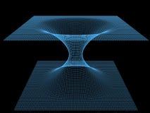 Διαστημικό πρότυπο ενός wormhole ελεύθερη απεικόνιση δικαιώματος
