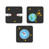 Διαστημικό πρότυπο λογότυπων Απεικόνιση αποθεμάτων