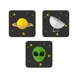 Διαστημικό πρότυπο λογότυπων Διανυσματική απεικόνιση