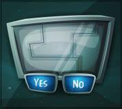 Διαστημικό σημάδι Scifi για το παιχνίδι Ui διανυσματική απεικόνιση