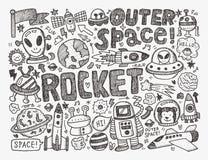 Διαστημικό στοιχείο Doodle Στοκ Εικόνες