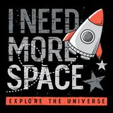 Διαστημικό σχέδιο 002 μπλουζών παιδιών στοκ φωτογραφία με δικαίωμα ελεύθερης χρήσης