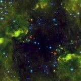 Διαστημικό τοπίο με τα όμορφα νεφελώματα ελεύθερη απεικόνιση δικαιώματος
