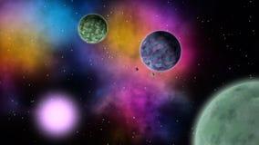 Διαστημικό τοπίο sci-Fi βρόχος ελεύθερη απεικόνιση δικαιώματος