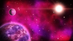 Διαστημικό υπόβαθρο βρόχος ελεύθερη απεικόνιση δικαιώματος