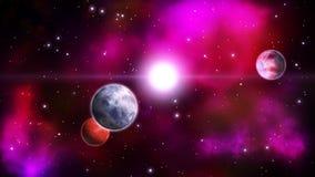 Διαστημικό υπόβαθρο βρόχος απεικόνιση αποθεμάτων