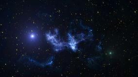 Διαστημικό υπόβαθρο ζωτικότητας με το νεφέλωμα, αστέρια Ο γαλακτώδης τρόπος, ο γαλαξίας και το νεφέλωμα απόθεμα βίντεο