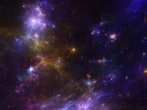 Διαστημικό υπόβαθρο με το νεφέλωμα και τους γαλαξίες και τα αστέρια Στοκ φωτογραφία με δικαίωμα ελεύθερης χρήσης
