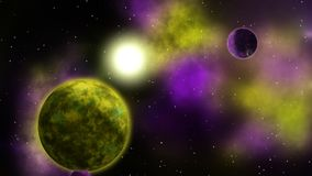 Διαστημικό υπόβαθρο φαντασίας βρόχος διανυσματική απεικόνιση