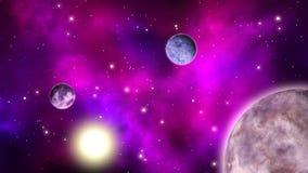 Διαστημικό υπόβαθρο sci-Fi βρόχος ελεύθερη απεικόνιση δικαιώματος