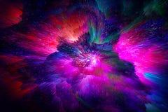 Διαστημικό φωτεινό αφηρημένο υπόβαθρο φαντασίας Κοσμική έννοια στοκ εικόνες
