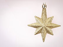 Διαστημικό χρυσό αστέρι Στοκ φωτογραφία με δικαίωμα ελεύθερης χρήσης