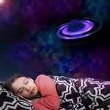 Διαστημικό όνειρο κοριτσιών Στοκ Εικόνες