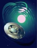 Διαστημικό UFO Στοκ εικόνες με δικαίωμα ελεύθερης χρήσης