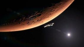 Διαστημόπλοιο που αφήνει τον Άρη 4K απεικόνιση αποθεμάτων