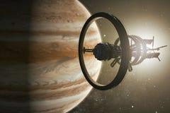Διαστημόπλοιο που Δίας διανυσματική απεικόνιση