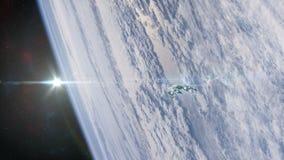Διαστημόπλοιο στην τροχιά απεικόνιση αποθεμάτων