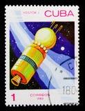 Διαστημόπλοιο ` Vostok ` ΕΣΣΔ, 1961, διαστημική ημέρα serie, circa 1983 Στοκ φωτογραφία με δικαίωμα ελεύθερης χρήσης