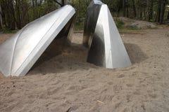 Διαστημόπλοιο που συντρίβεται στην άμμο Στοκ Εικόνες