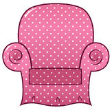Διαστιγμένη ροζ έδρα clipart Στοκ Εικόνες