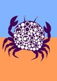 Διαστιγμένη σκιαγραφία καρκίνου στην άμμο Στοκ εικόνα με δικαίωμα ελεύθερης χρήσης