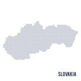 Διαστιγμένος διάνυσμα χάρτης της Σλοβακίας που απομονώνεται στο άσπρο υπόβαθρο απεικόνιση αποθεμάτων