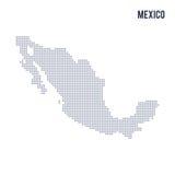 Διαστιγμένος διάνυσμα χάρτης του Μεξικού που απομονώνεται στο άσπρο υπόβαθρο απεικόνιση αποθεμάτων