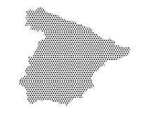 Διαστιγμένος χάρτης σχεδίων της Ισπανίας ελεύθερη απεικόνιση δικαιώματος