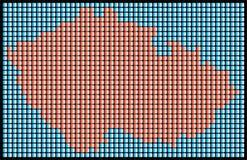 διαστιγμένος χάρτης Στοκ εικόνα με δικαίωμα ελεύθερης χρήσης