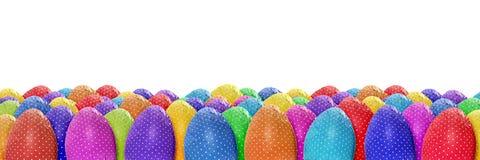 Διαστιγμένο έμβλημα αυγών Πάσχας στοκ εικόνες