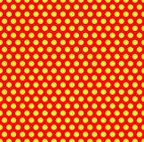 Διαστιγμένο επαναλαμβανόμενο popart όπως το σχέδιο duotone Το Speckled κόκκινο φωνάζει διανυσματική απεικόνιση