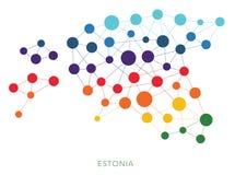 Διαστιγμένο διανυσματικό υπόβαθρο της Εσθονίας σύστασης Στοκ Εικόνα