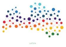 Διαστιγμένο διανυσματικό υπόβαθρο της Λετονίας σύστασης Στοκ Εικόνες