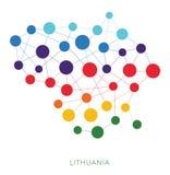 Διαστιγμένο διανυσματικό υπόβαθρο της Λιθουανίας σύστασης Στοκ εικόνα με δικαίωμα ελεύθερης χρήσης
