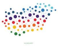 Διαστιγμένο διανυσματικό υπόβαθρο της Ουγγαρίας σύστασης Στοκ Εικόνα