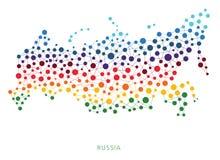 Διαστιγμένο διανυσματικό υπόβαθρο της Ρωσίας σύστασης Στοκ Εικόνες