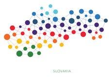 Διαστιγμένο διανυσματικό υπόβαθρο της Σλοβακίας σύστασης Στοκ Φωτογραφίες