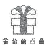 Διαστιγμένο κιβώτιο δώρων Στοκ φωτογραφίες με δικαίωμα ελεύθερης χρήσης