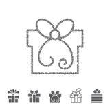 Διαστιγμένο κιβώτιο δώρων Στοκ Εικόνες