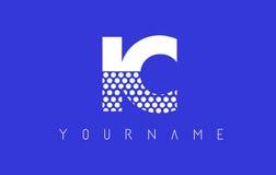 Διαστιγμένο σχέδιο λογότυπων επιστολών ολοκληρωμένου κυκλώματος Ι Γ με το μπλε υπόβαθρο Στοκ Φωτογραφίες