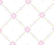 Διαστιγμένο τετραγωνικό floral υπόβαθρο Στοκ Εικόνα