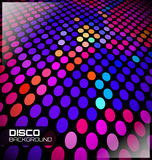 Διαστιγμένο Disco υπόβαθρο Στοκ φωτογραφία με δικαίωμα ελεύθερης χρήσης