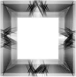 Διαστιγμένο Grunge πλαίσιο στο άσπρο υπόβαθρο Στοκ φωτογραφία με δικαίωμα ελεύθερης χρήσης