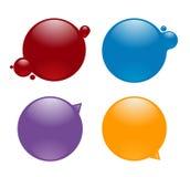 Διαστρέβλωση κουμπιών επιλογής χρωμάτων από το υγρό μελανιού Στοκ Εικόνα