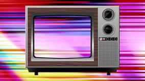 Διαστρέβλωση παρέμβασης χρώματος στην παλαιά TV ελεύθερη απεικόνιση δικαιώματος