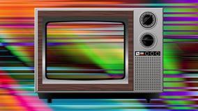 Διαστρέβλωση παρέμβασης χρώματος στην παλαιά TV απεικόνιση αποθεμάτων