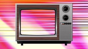 Διαστρέβλωση παρέμβασης χρώματος στην παλαιά TV διανυσματική απεικόνιση
