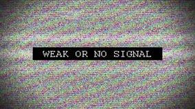 Διαστρεβλωμένο TV σήμα με επονομαζόμενος απόθεμα βίντεο
