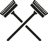 Διασχισμένος καθαριστής σκουπών διανυσματική απεικόνιση