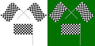 Διασχισμένος και ενιαίος αγώνας, σημαίες φυλών που απομονώνονται στο λευκό/πράσινες απεικόνιση αποθεμάτων